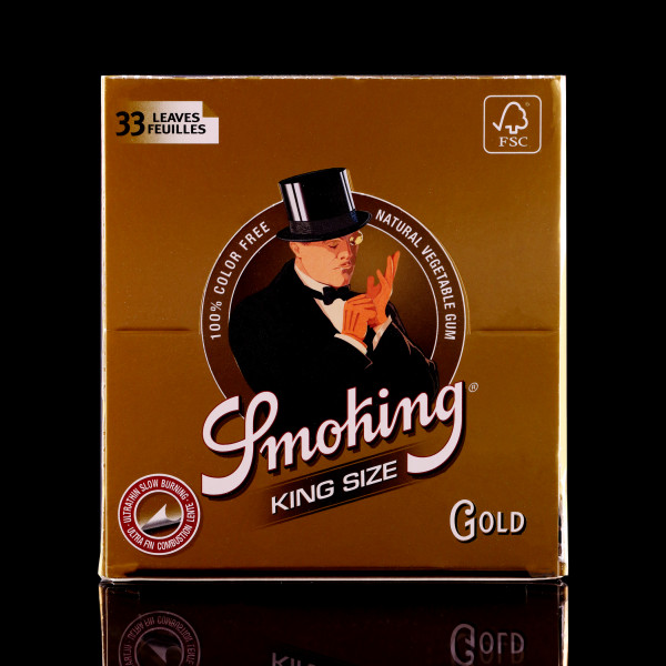 Smoking - Gold King Size - BOX of 50