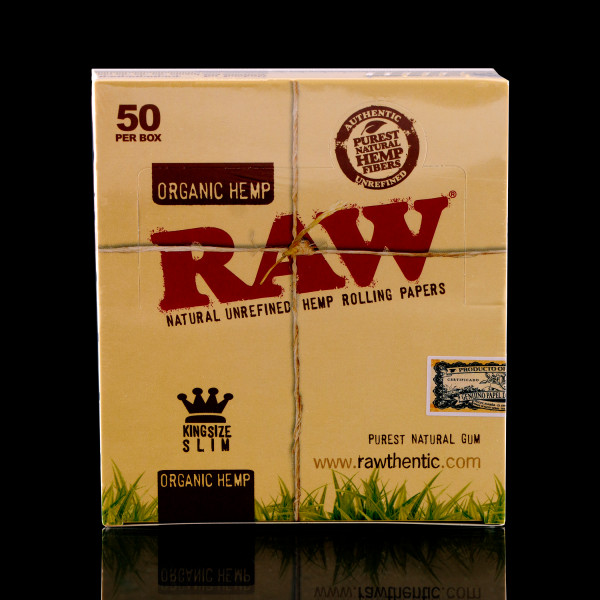 RAW - Organic Hemp King Size Papers - BOX of 50