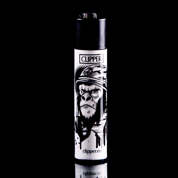 Clipper Feuerzeug - Peace War Monkey