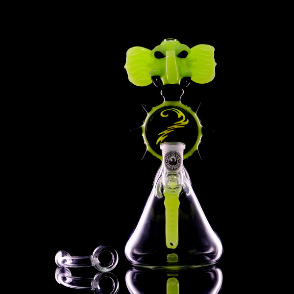 Conviction Glass - Elephant Green Slyme Rig with Banger